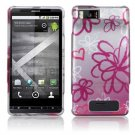 Hard Plastic Design Case for Motorola Droid X MB810/X 2 MB870 - Lime Flowers