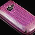 Crystal Gel Diamond Design Skin Cover Case for Nokia C3 - Hot Pink