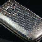 Crystal Gel Diamond Design Skin Cover Case for Nokia C3 - Smoke