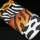 Hard Plastic Rubber Feel Design Case for Samsung Captivate i897 - Mixed Animal
