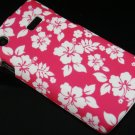 Hard Plastic Rubber Feel Design Case for Samsung Captivate i897 - Hawaiian Flowers