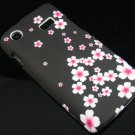 Hard Plastic Rubber Feel Design Case for Samsung Captivate i897 - Cherry Blossom