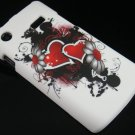 Hard Plastic Rubber Feel Design Case for Samsung Captivate i897 - Inked Heart