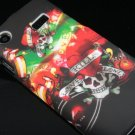 Hard Plastic Rubber Feel Design Case for Samsung Captivate i897 - Heart and Skull