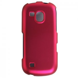 Hard Plastic Rubber Feel Case for Samsung Continuum i400 - Hot Pink