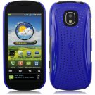 Hard Plastic Xmatrix Back Case for Samsung Continuum i400 - Blue