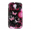 Hard Plastic Design Case for Samsung Epic 4G - Pink Butterfly