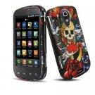 Hard Plastic Design Case for Samsung Epic 4G - Koi and Skull/Keep Faith
