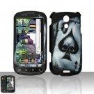 Hard Plastic Rubber Feel Design Case for Samsung Epic 4G - Ace of Spade Skull