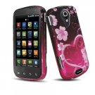 Hard Plastic Rubber Feel Design Case for Samsung Epic 4G - Lovely Heart