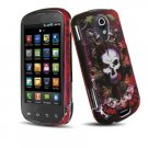 Hard Plastic Rubber Feel Design Case for Samsung Epic 4G - Lions & Skull/Love Hurts
