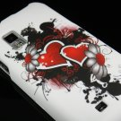 Hard Plastic Rubber Feel Design Case for Samsung Fascinate i500 - Inked Heart
