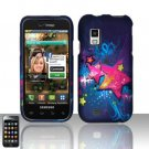 Hard Plastic Rubber Feel Design Case for Samsung Fascinate i500 - Shooting Stars
