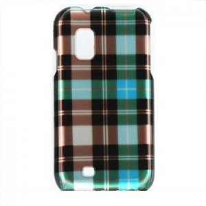 Hard Plastic Design Case for Samsung Fascinate i500 - Blue Check