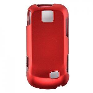 Hard Plastic Rubber Feel Case for Samsung Intercept M910 - Red