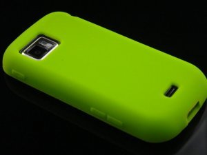 Soft Silicone Skin Cover Case for Samsung Mythic A897 - Green