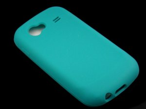 Soft Silicone Skin Cover Case for Samsung Nexus S i920 - Turquoise