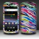 Hard Plastic Rubber Feel Design Case for Samsung Nexus S i920 - Rainbow Zebra