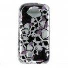 Hard Plastic Design Cover Case for Samsung Reality U820 - Black Skulls