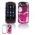 Hard Plastic Design Cover Case for Samsung Reality U820 - Pink Flower Heart