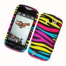 Hard Plastic Rubber Feel Design Case for HTC Mytouch Slide 4G - Abstract Zebra