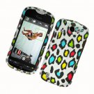 Hard Plastic Rubber Feel Design Case for HTC Mytouch Slide 4G - Colorful Leopard