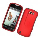 Hard Plastic Rubber Feel Case for HTC Mytouch Slide 4G - Red