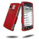 Hard Plastic Rubber Feel Case for Sanyo Zio - Red