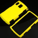Hard Plastic Rubber Feel Case for Sanyo Zio - Yellow