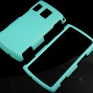 Hard Plastic Rubber Feel Case for Sanyo Zio - Turquoise