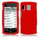 Silicone Textured Skin Cover Case for Sanyo Zio - Red