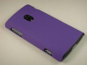 Hard Plastic Rubber Feel Case for Sony Xperia X10 - Purple
