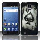 Hard Plastic Rubber Feel Design Case for Samsung Infuse 4G i997 - Ace of Spade Skull