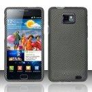 Hard Plastic Rubber Feel Design Case for Samsung Galaxy S II i9100 - Carbon Fiber