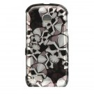 Hard Plastic Design Cover Case for Samsung Eternity II A597 - Black Skulls
