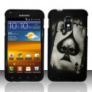 Hard Plastic Rubber Feel Design Case for Samsung Galaxy S II Epic 4G Touch - Ace of Spade Skull