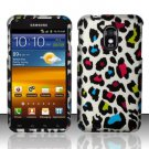 Hard Plastic Rubber Feel Design Case for Samsung Galaxy S II Epic 4G Touch - Rainbow Leopard