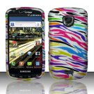 Hard Plastic Rubber Feel Design Case for Samsung Droid Charge i510/i520 - Rainbow Zebra