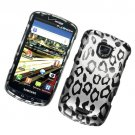 Hard Plastic Rubber Feel Design Case for Samsung Droid Charge i510/i520 - Black and White Leopard