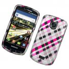 Hard Plastic Rubber Feel Design Case for Samsung Droid Charge i510/i520 - Multi Colors Check