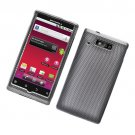 Hard Plastic Rubber Feel Design Case for Motorola Triumph - Carbon Fiber