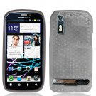 Crystal Gel Check Design Skin Case for Motorola Photon 4G - Smoke