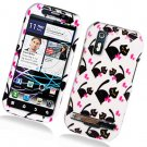Hard Plastic Glossy Design Case for Motorola Photon 4G - Bow Tie Cat