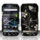 Hard Plastic Rubber Feel Design Case for Motorola Photon 4G - Midnight Garden
