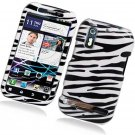 Hard Plastic Glossy Design Case for Motorola Photon 4G - Black and White Zebra