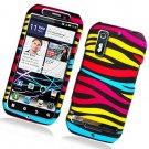 Hard Plastic Rubber Feel Design Case for Motorola Photon 4G - Abstract Zebra