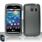 Hard Plastic Rubber Feel Design Case for LG Vortex VS660 - Carbon Fiber