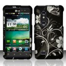 Hard Plastic Rubber Feel Design Case for LG Thrill 4G - Midnight Garden