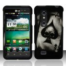 Hard Plastic Rubber Feel Design Case for LG Thrill 4G - Ace of Spade Skull