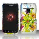 Hard Plastic Rubber Feel Design Case for LG Revolution 4G VS910 - Tropic Flowers